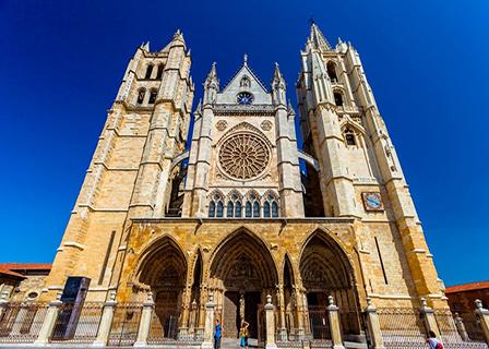 Катедралата в Леон Испания