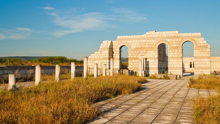 Плиска - останки от старата столица на България
